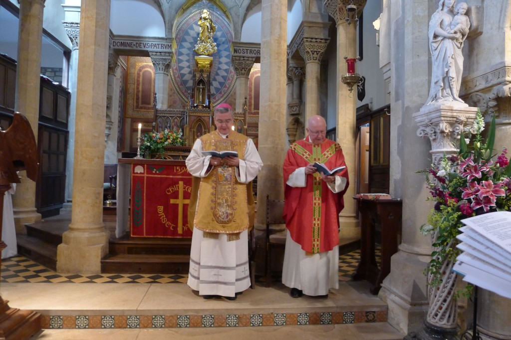 The Bishop of Plymouth with Father Richard Meyer
